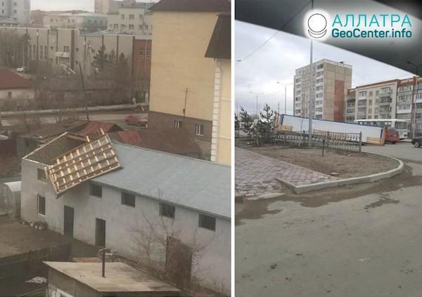 По Казахстану пронесся ураган, апрель 2020