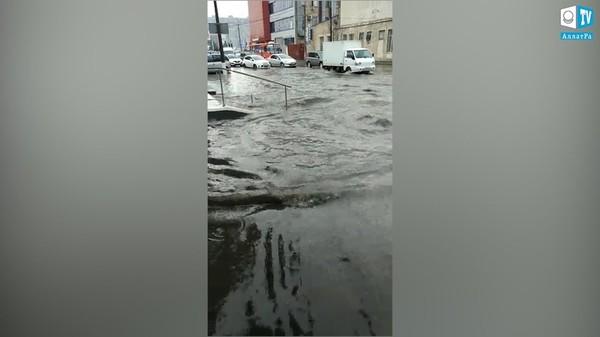 Последствия дождя в Краснодаре, РФ. 25 июля 2019. КЛИМАТ ГЛАЗАМИ ОЧЕВИДЦЕВ