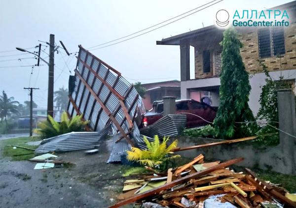 """Последствия тропического циклона """"Гарольд"""", апрель 2020"""