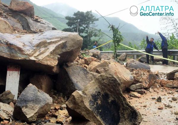 Následky tropické bouře «Matmo», říjen 2019