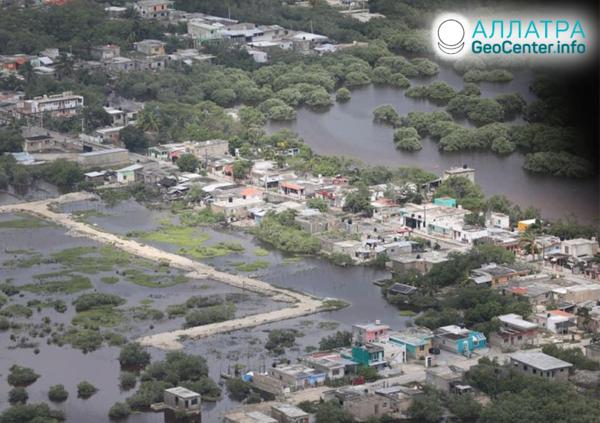 "Následky hurikánu ""Delta"", október 2020"