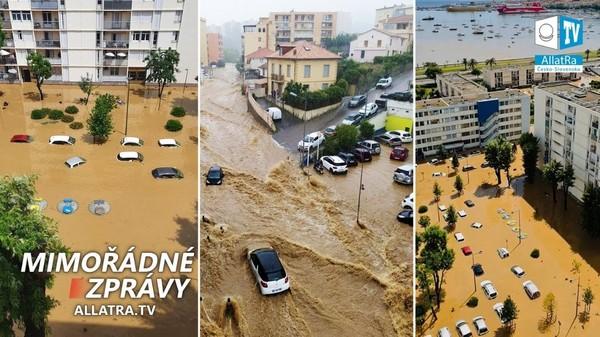 Potopa v Evropě? → Srbsko, Turecko, Francie. Obří kroupy v Kanadě, Mexiku, Maroku. Mráz v Africe