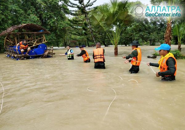 Проливные дожди и наводнения на юге Таиланда, декабрь 2018