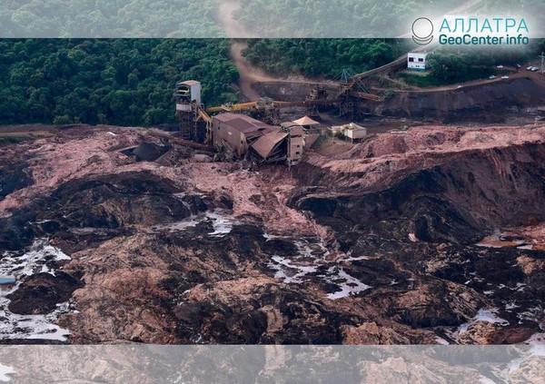 Прорыв дамбы и наводнение в Бразилии, 24-26 января 2019