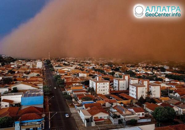 Prachové búrky, koniec septembra-október 2021