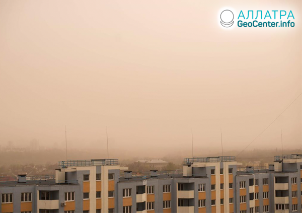 Пыльные бури в странах мира, апрель 2020