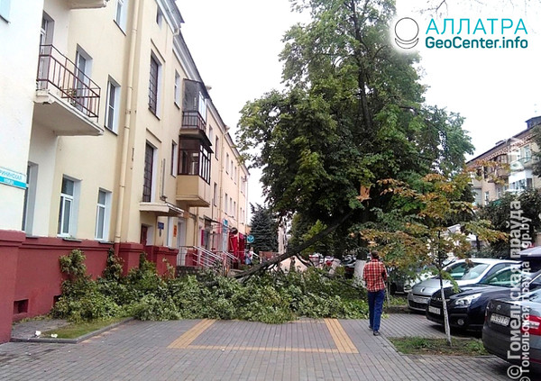 Разгул стихии в Беларуси, июль 2019
