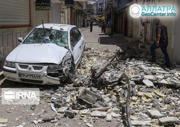 Ničivé zemetrasenie v Iráne, júl 2019