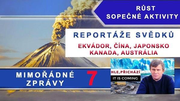 Růst sopečné aktivity. Mimořádné klimatické zprávy: Ekvádor, Čína, Austrálie, Japonsko, Kanada. 7. díl.