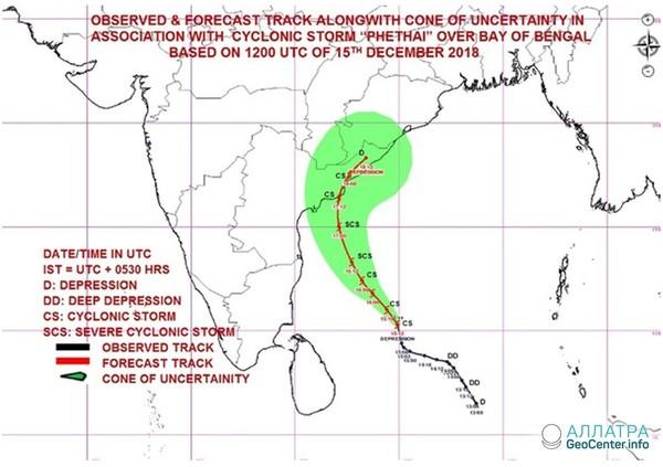 Серия тропических циклонов в Индийском океане, 15-17 декабря 2018 года