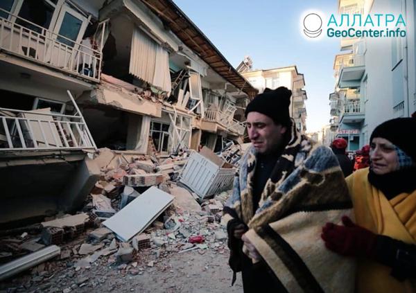 Серия землетрясений в мире в конце января 2020