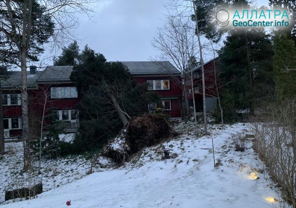 """Búrka """"Alfrida"""" v krajinách Škandinávie, január 2019"""