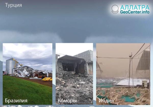 Víchrice, tornáda a hurikány vo svete, 15.-30. apríla 2019