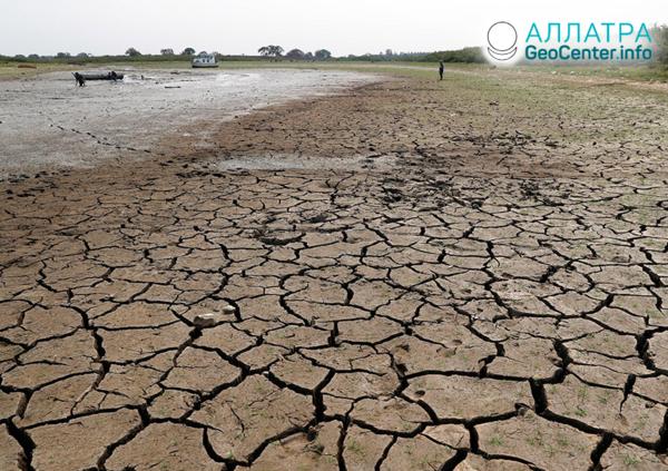 Silné sucho v krajinách Ameriky, október 2020