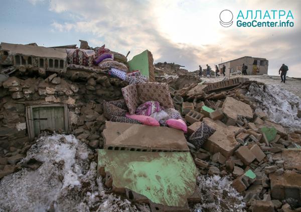 Сильные землетрясения на границе Ирана и Турции, февраль 2020