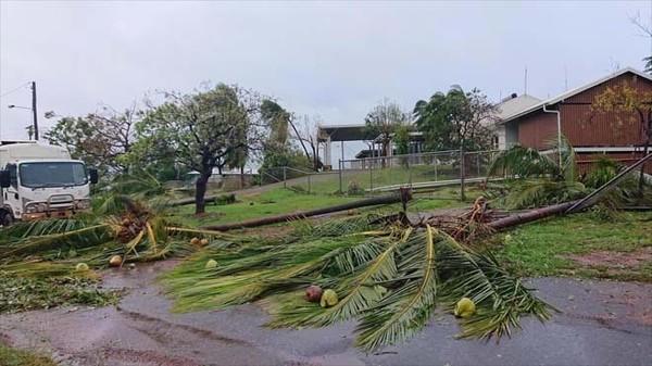 """Silný tropický cyklón """"Trevor"""" na australském poloostrově Cape York, březen 2019"""