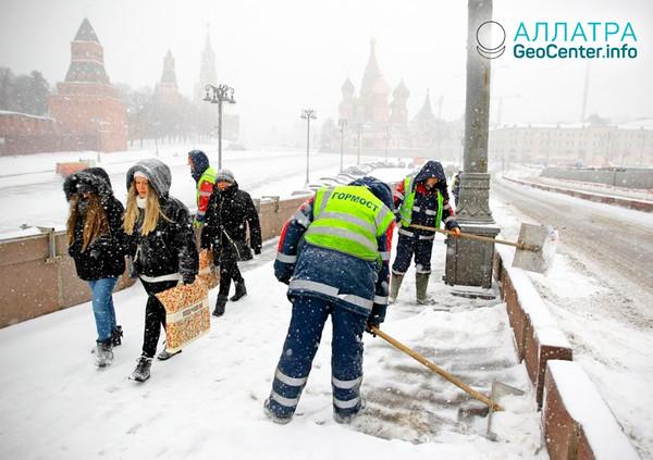Снегопад в Москве, январь 2019