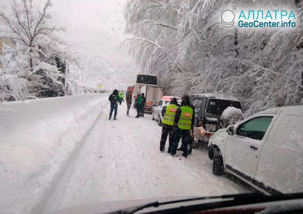 Снегопады на Балканах, декабрь 2018