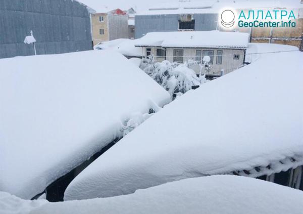 Sneženie v Iráne, február 2020
