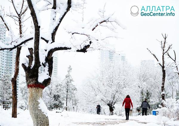 Рекордные снегопады в Китае, ноябрь 2018