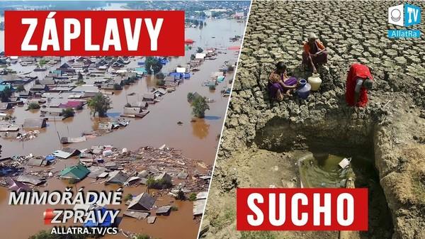 Naléhavé! Klimatické katastrofy 2019: záplavy, sucho, tání ledovců