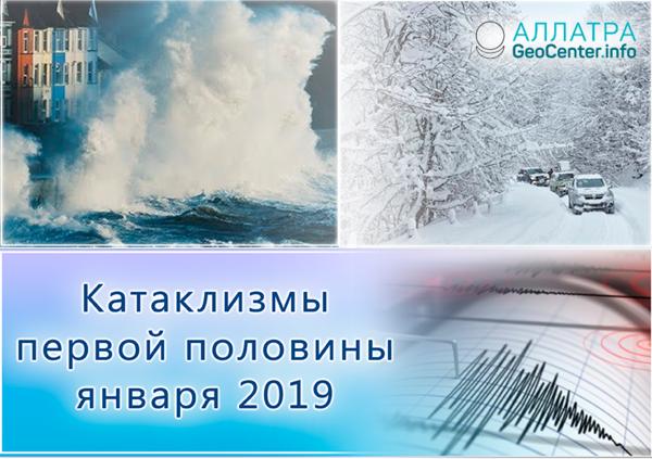 Сводка катаклизмов за первую половину января 2019