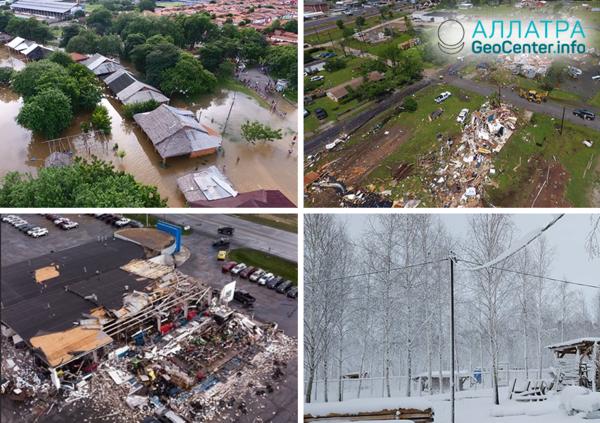 Prehľad katakliziem. Prvá polovica apríla 2019