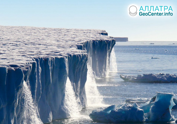 Таяние ледников Гренландии и сильные морозы в Антарктиде, март 2020