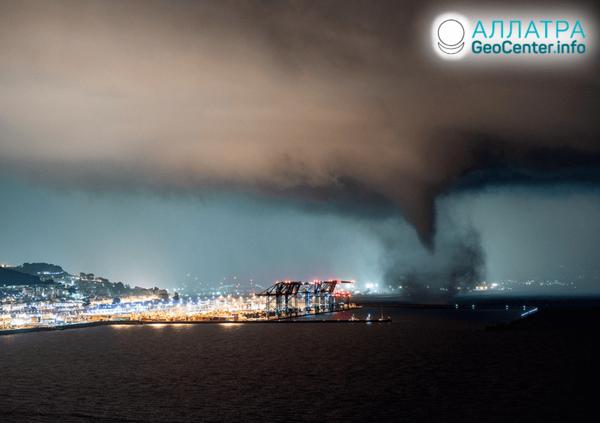 Торнадо и смерчи на планете, сентябрь 2020