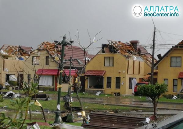 Торнадо в Чили, май 2019
