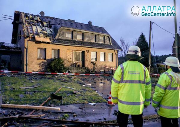 Торнадо в Германии 13 марта 2019