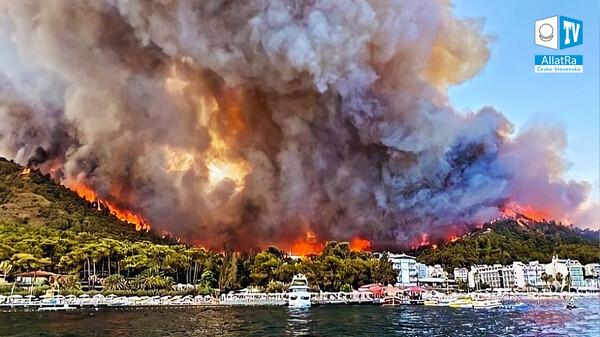 Turecko v plamenech! Záplavy v Číně → Zasaženo více než 10 milionů lidí. Katastrofy po celém světě
