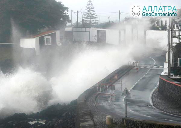 Ураган «Лоренцо» в Португалии, октябрь 2019