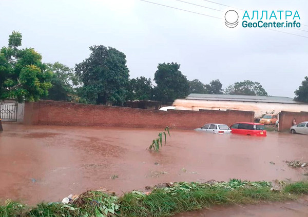 Nečakané záplavy v Malawi, február 2020