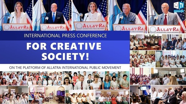 FOR CREATIVE SOCIETY! International press conference on ALLATRA platform. June 22, Atlanta, USA