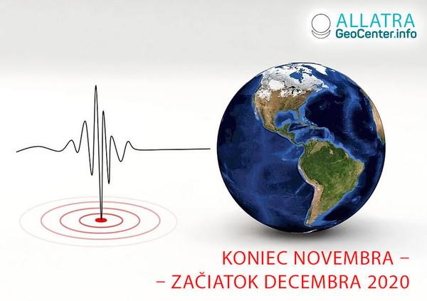 Seizmická aktivita, koniec novembra-začiatok decembra 2020