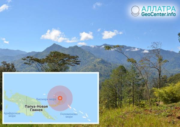 Землетрясение магнитудой 6,4 в Папуа-Новой Гвинее