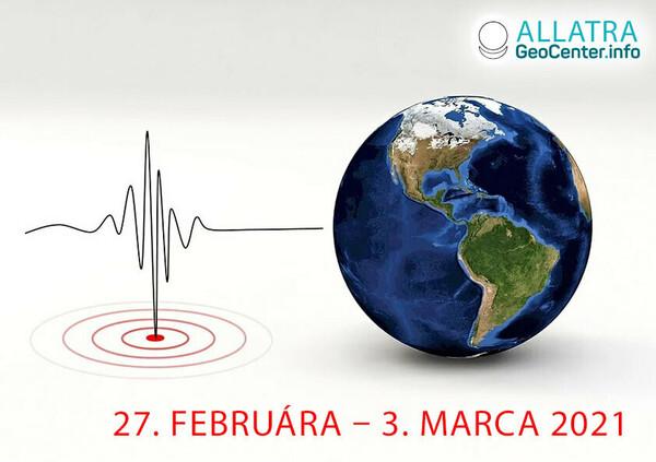 Zemetrasenia, február-marec 2021