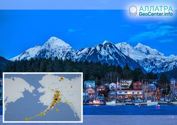 Zemetrasenia na Aljaške 1.-10. januára 2019