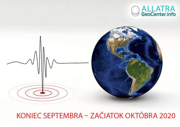 Zemetrasenia vo svete, koniec septembra – začiatok októbra 2020
