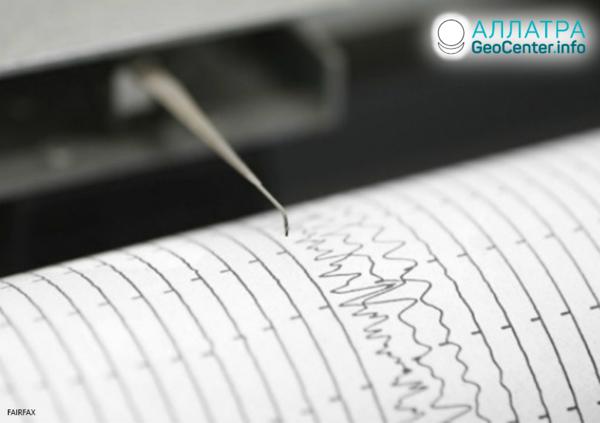 Zemetrasenia vo svete, koniec júla 2020