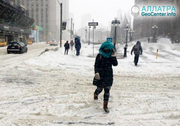 Зимний шторм в Канаде, февраль 2019